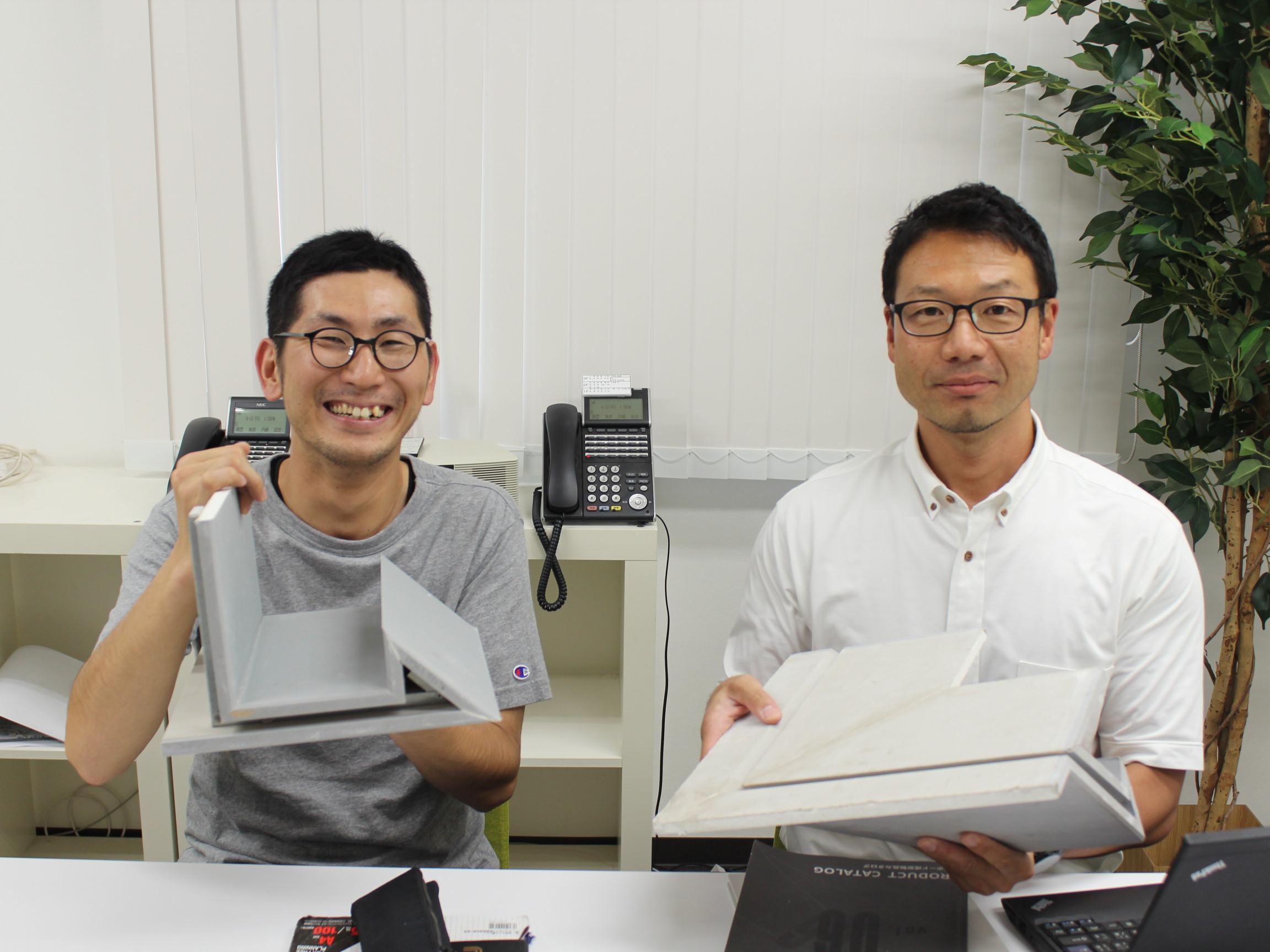 株式会社小野工芸社の柴田様と鈴江部長